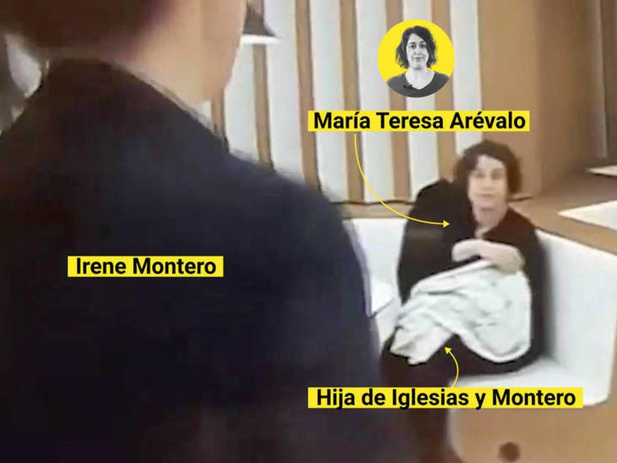 Foto: Irene Montero y Maria Teresa Arévalo, en un 'frame' de un programa de televisión. (EC)
