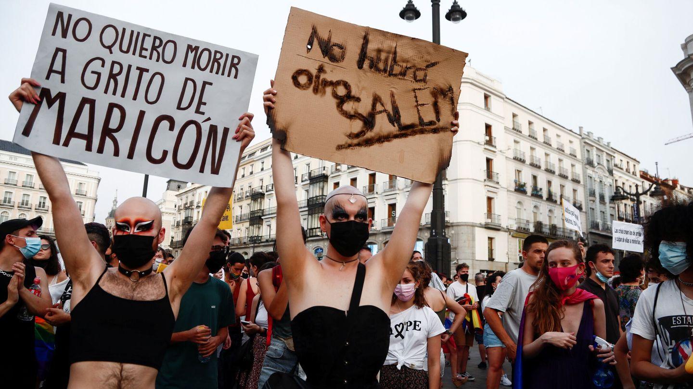 Manifestación en Madrid clamando justicia por el crimen de Samuel Luiz. Foto: Efe