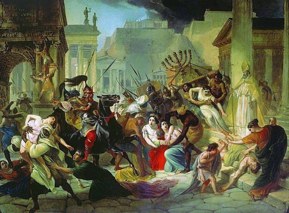 Foto: Saqueo de Roma en el año 455 d. C. por Karl Briullov.