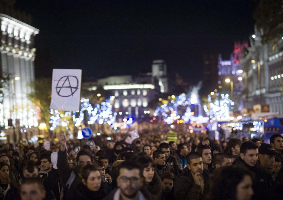 Foto: Vista de la concentración Rodea el Congreso del 14 de diciembre. (EFE)
