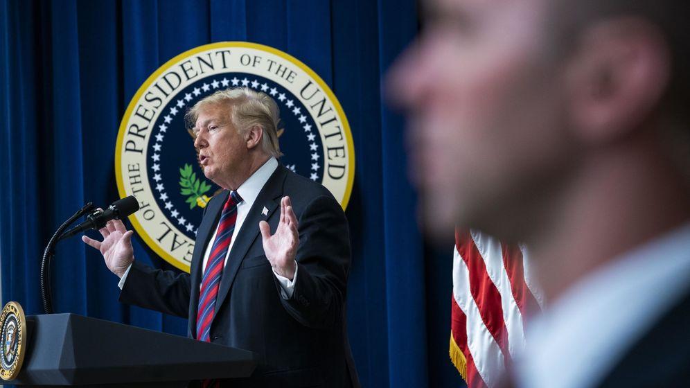 Foto: El presidente Trump habla en la Conferencia del Día de Liderazgo del Estado de la Casa Blanca en Washington, el 23 de octubre de 2018.