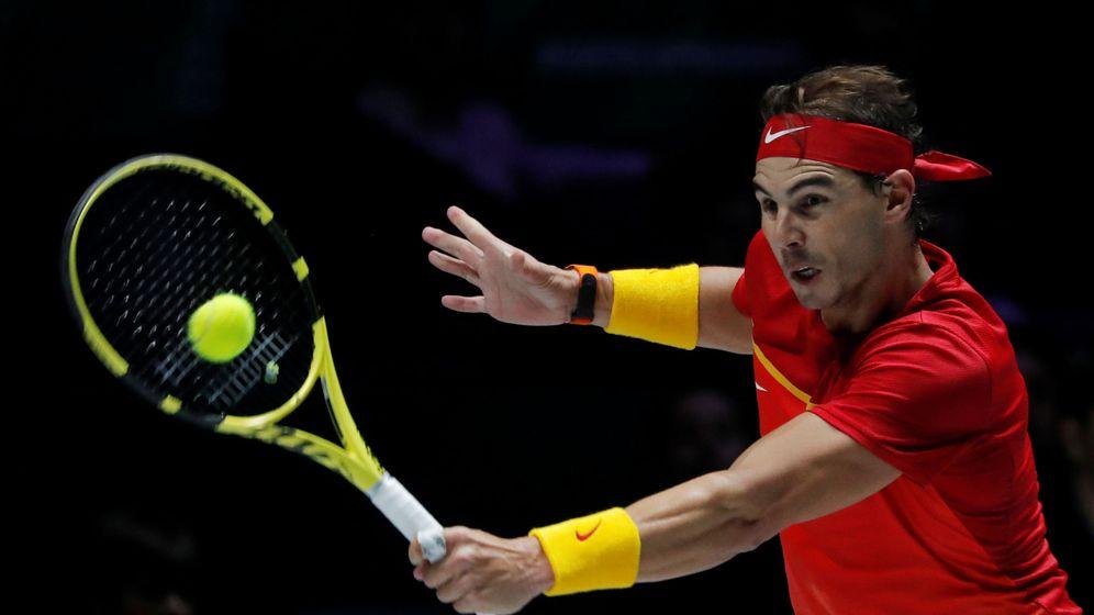 Foto: Rafael Nadal, durante su partido contra el croata Gojo de la fase de grupos. (Reuters)