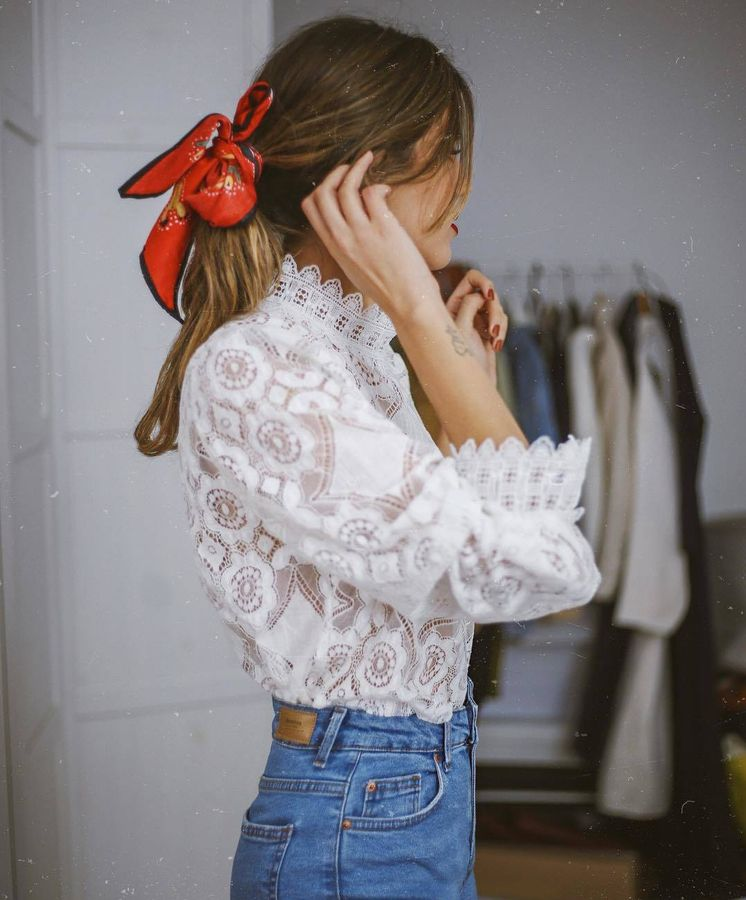 Foto: De estilo romántico y superbonita, así es esta blusa: el último éxito de Zara. (Instagram)