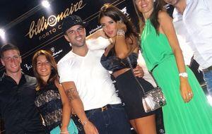 Torres, Xavi, Cesc y sus parejas, juntos en El Billonaire de Cerdeña