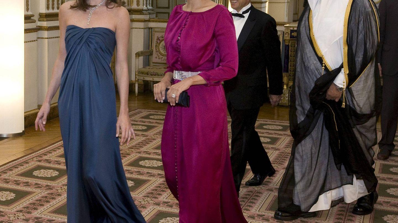 Con Carla Bruni, en 2009. (EFE)