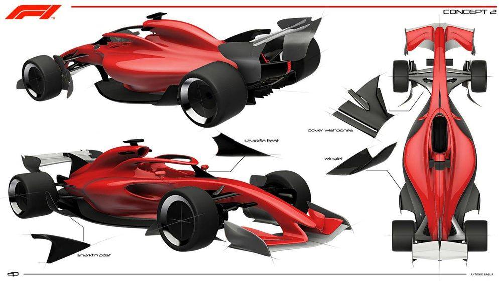 Foto: Los tres nuevos conceptos revolucionarios que presenta la F1 para 2021