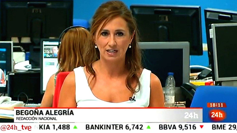 Begoña Alegría en el Canal 24 horas.