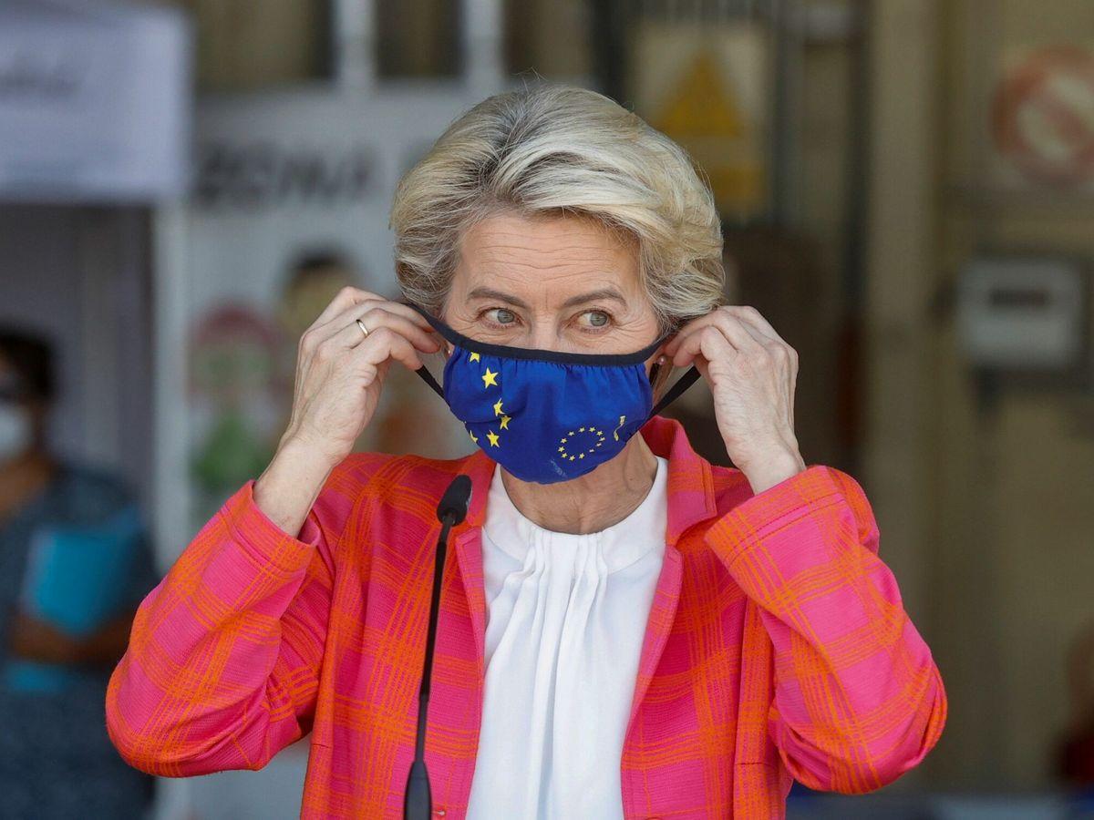 Foto: Ursula Von der Leyen en el centro de acogida de Torrejón. (EFE)