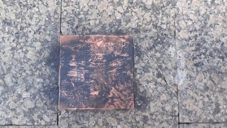 Vandalizan la placa en recuerdo a Gregorio Ordóñez instalada en San Sebastián