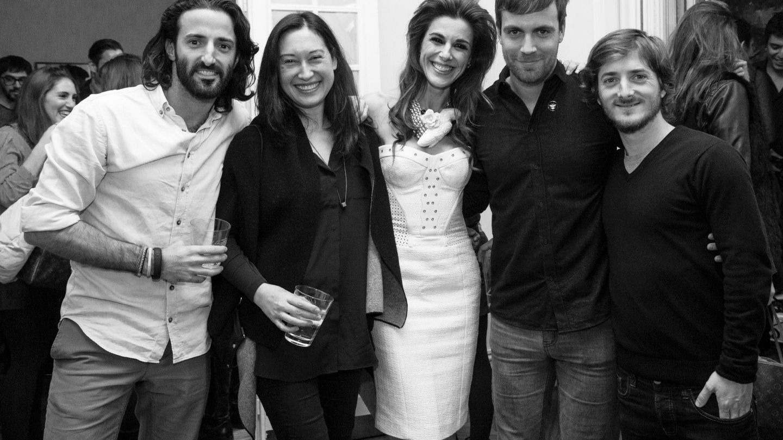 Matías dumont y raquel sánchez silva coincidieron en la gala de los 40 principales en diciembre de 2013 (Facebook)