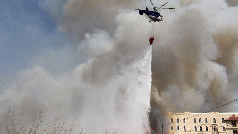 Foto: Foto de archivo de un incendio en Ceuta. (EFE)