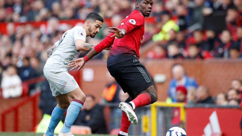 Pogba en un partido con el Manchester United. (Efe)
