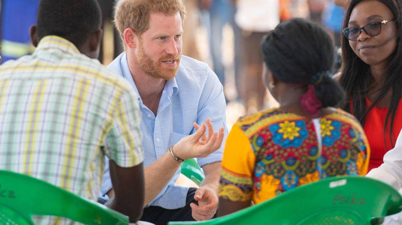 El príncipe Harry, en su acto oficial en Malaui en octubre de 2019. (Getty)