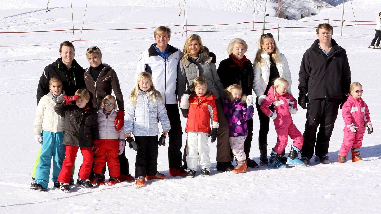 La familia real, en Lech un año antes de accidente de Friso. (Cordon Press)
