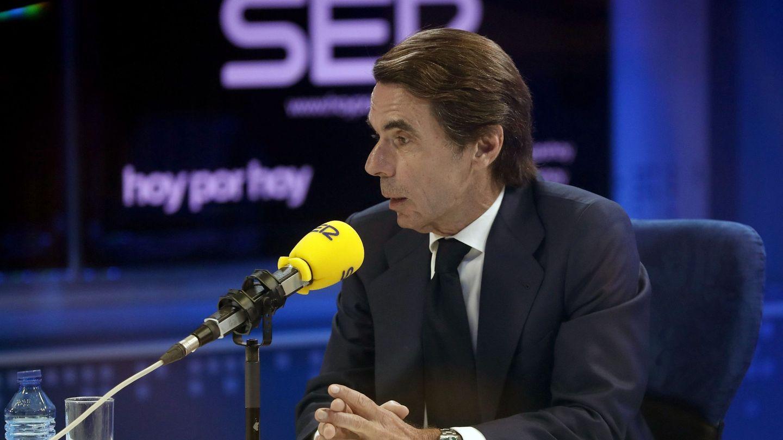 El expresidente del Gobierno José María Aznar, en declaraciones a la Cadena SER. (EFE)