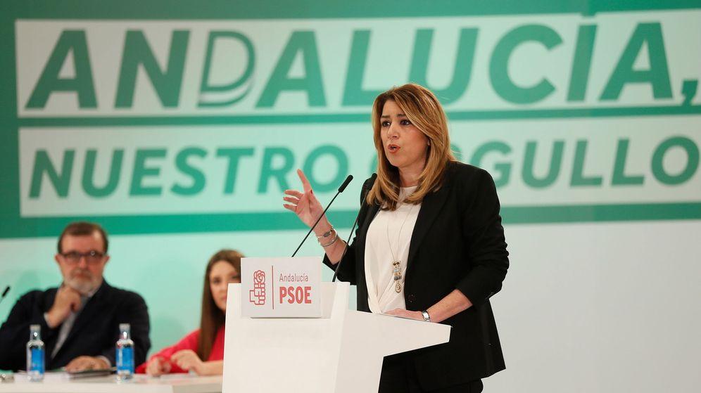 Foto: La secretaria general del PSOE de Andalucía y presidenta de la Junta, Susana Díaz, durante su intervención ante el comité director del PSOE andaluz. (EFE)