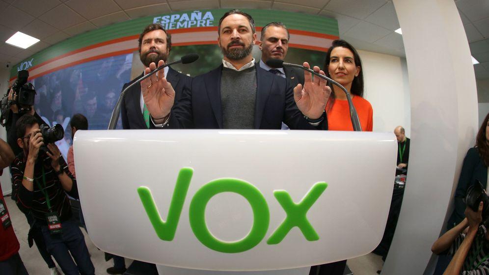 Foto: Rueda de prensa del presidente de Vox, Santiago Abascal. (EFE)