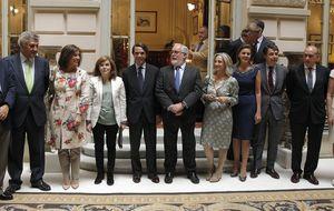 Rajoy, la única ausencia en la foto de la unidad del PP con Aznar