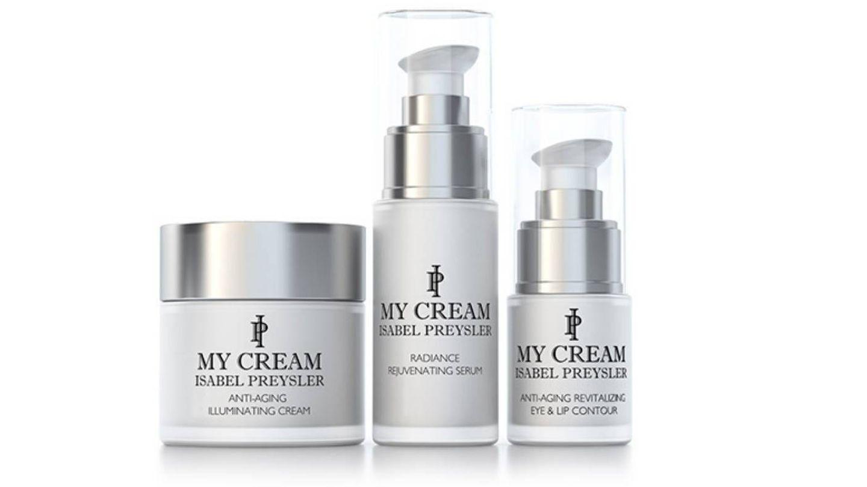 Línea de My Cream al completo: crema, sérum y contorno de ojos.