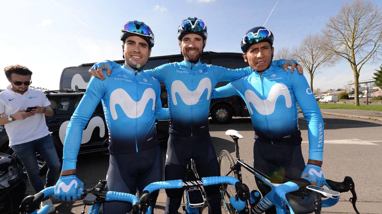 Foto: Milkel Landa, Alejandro Valverde y Nairo Quintana correrán la Vuelta a España que comienza el 25 de agosto. (Imago)