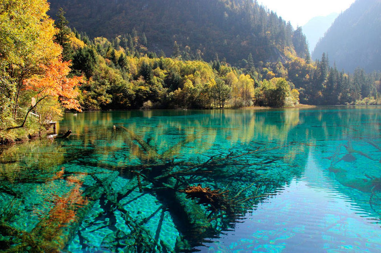 Foto: Lago de las Cinco Flores, en China, cómo no (Foto: Iheartpandas-Flickr-Creative Commons)