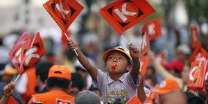 Humala vence en la primera vuelta de las presidenciales de Perú