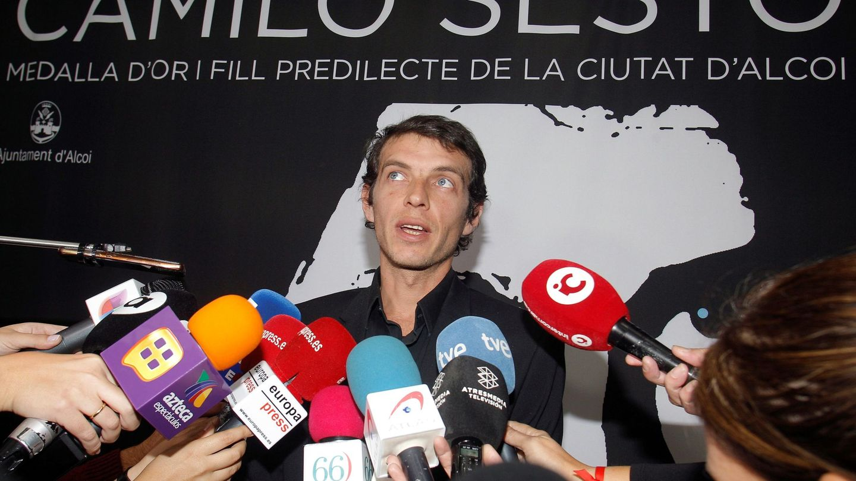 El hijo de Camilo Sesto, en octubre en Alcoy. (EFE)