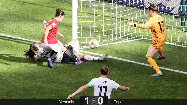 Foto: El gol de Alemania ante España. (Reuters)