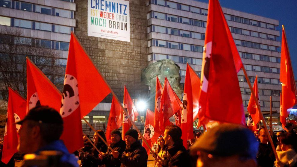 """""""Mi cara polariza"""": Merkel, en Chemnitz tres meses después de los disturbios ultras"""