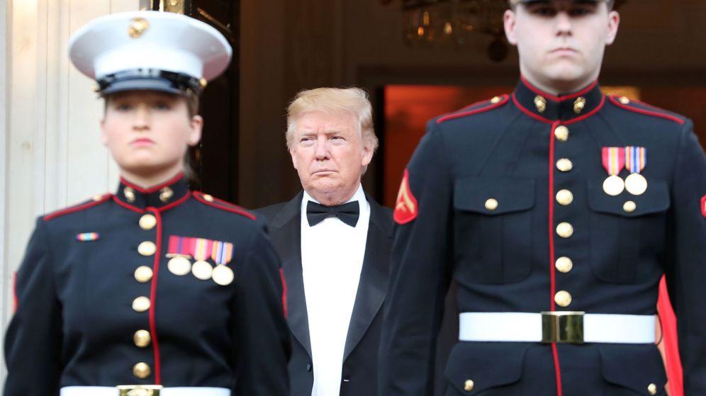 Foto: Donald Trump, en su visita a la capital británica. (Reuters)