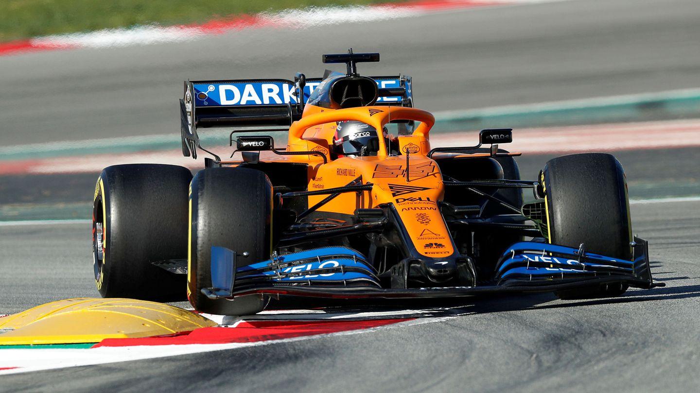 Carlos Sainz, con McLaren durante la pretemporada. (EFE)