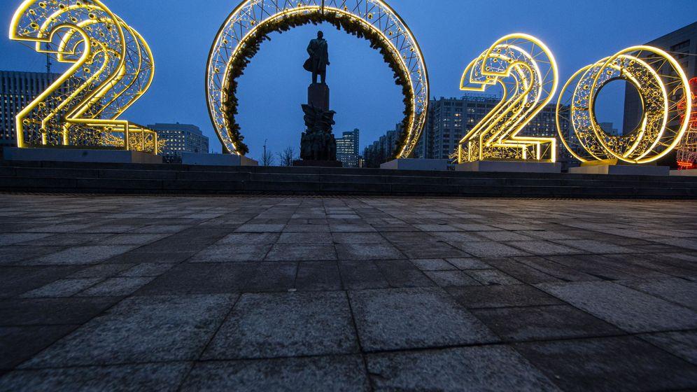 Foto: Decoración de 2020 en Moscú. (EFE)