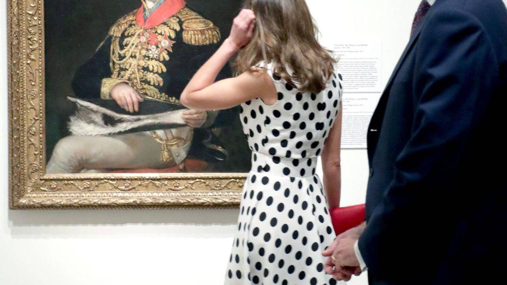 La reina Letizia estrena vestido de topos y diseñadora (la favorita de la infanta Margarita)