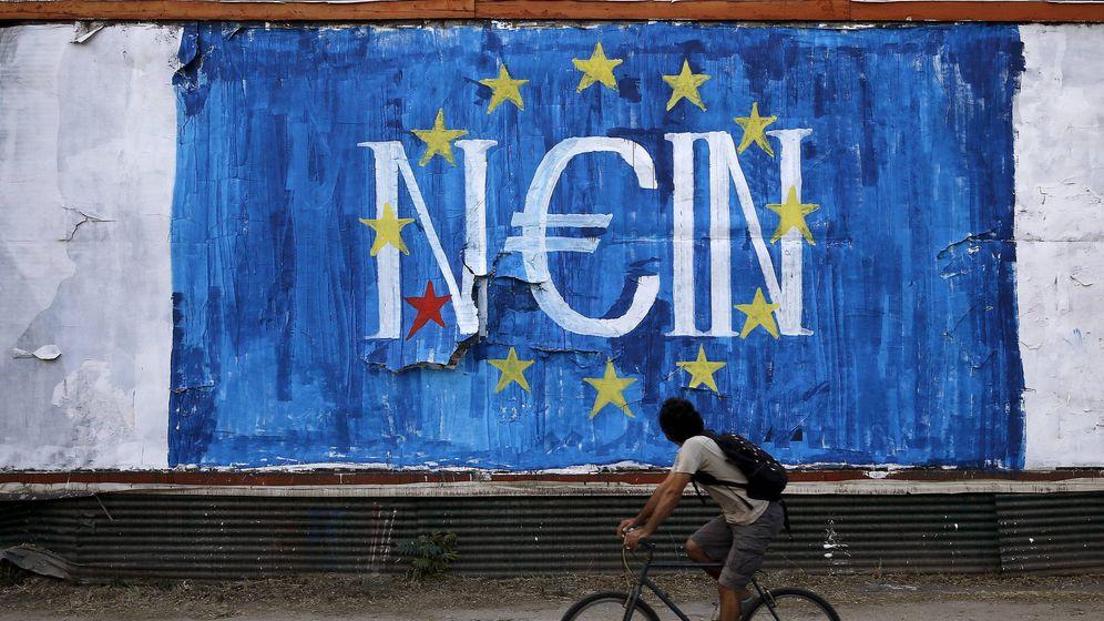 Foto: Mural contra la Unión Europea en Atenas, en junio de 2015. (Reuters)