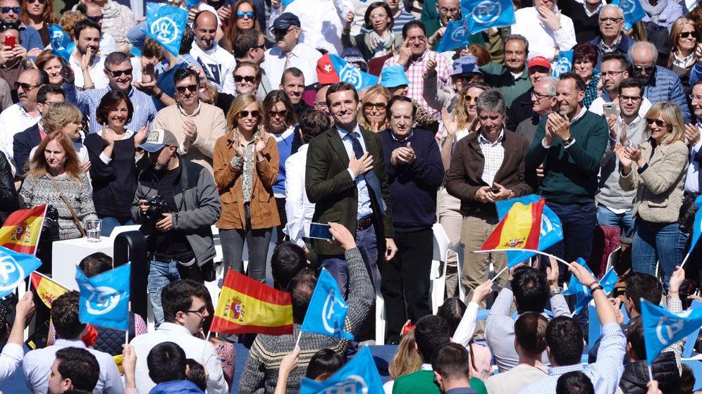 Foto: Pablo Casado en el acto de Valladolid. (EFE)