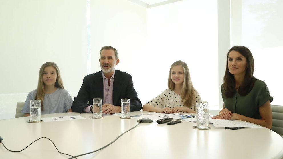 Leonor y Sofía, la sorpresa de la videoconferencia de Felipe y Letizia