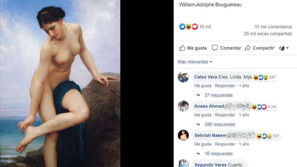 Suben a Facebook un cuadro del s. XIX y los hombres intentan ligar con la modelo