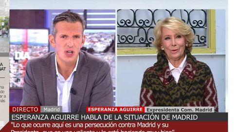 Eso es totalmente falso: Aguirre no consiente esta afirmación a Joaquín Prat
