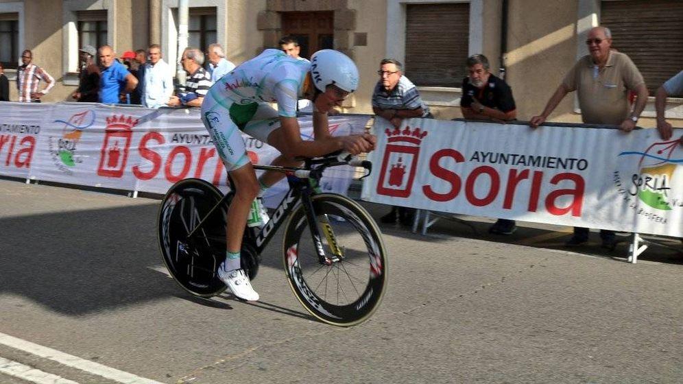 Foto: Carlos Rodríguez, durante una carrera de 2018. (Foto: Kometa Cycling Team)