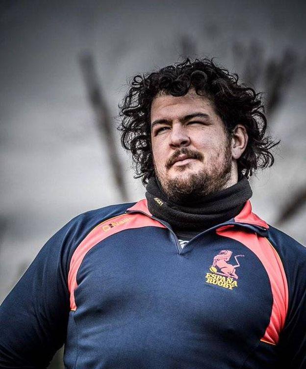 Foto: Jesús Moreno, jugador de la selección española de rugby (Twitter).
