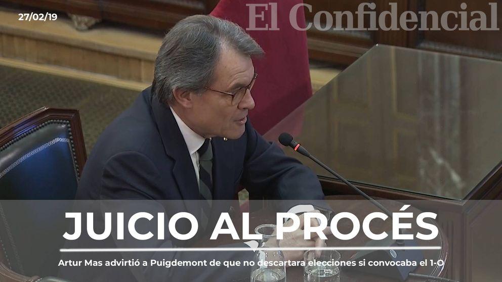 Artur Mas advirtió a Puigdemont de que no descartara elecciones si convocaba el 1-O