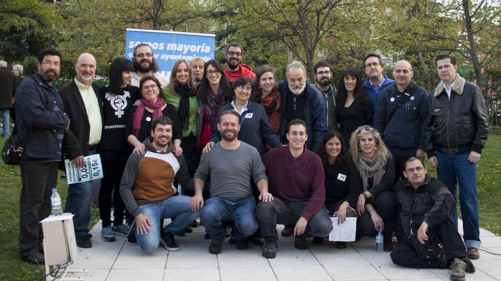 Foto: La candidatura de Leganemos que se presentó a las elecciones de 2015.