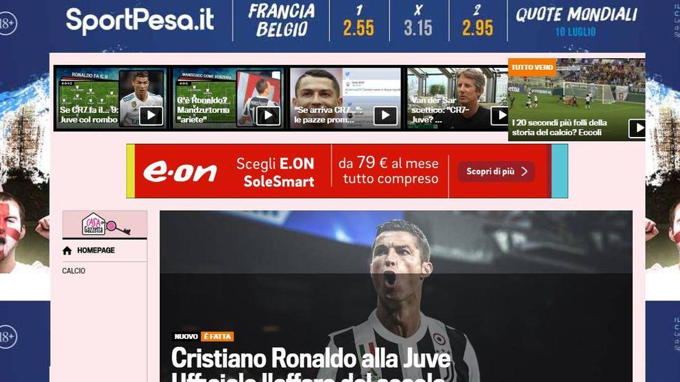 El fichaje de Cristiano Ronaldo por la Juve, noticia en la prensa de todo el mundo