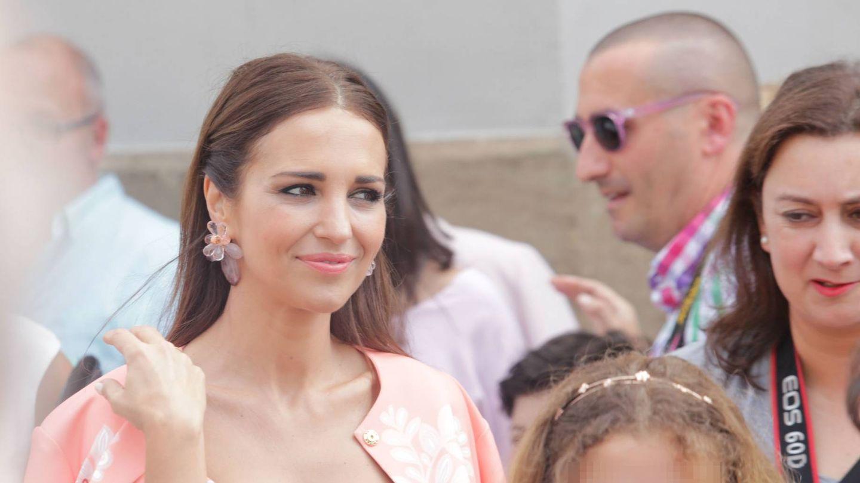 Paula Echevarría y Daniella (sin David Bustamante) en la procesión del Corpus Christi.