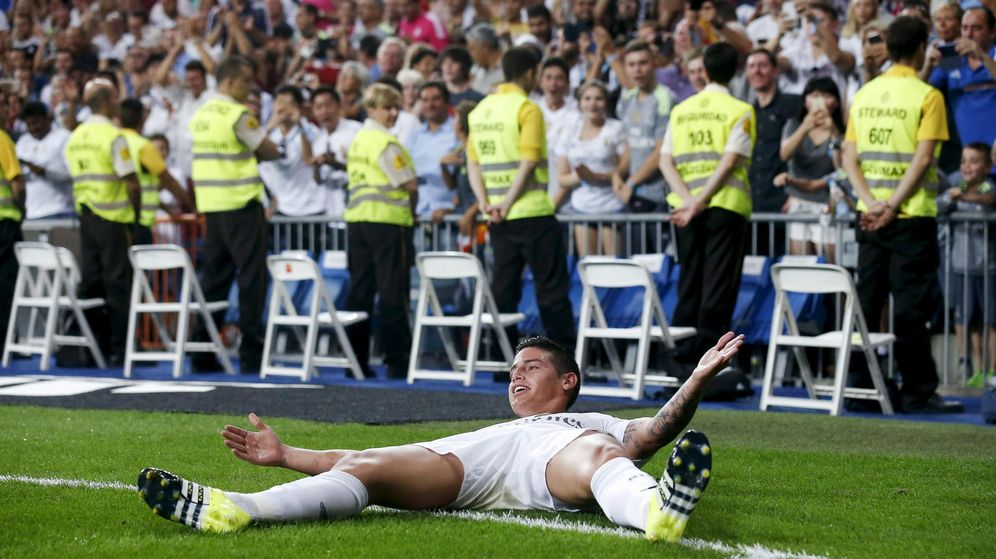 Foto: James Rodríguez, durante un partido del Real Madrid en el Bernabéu (REUTERS)