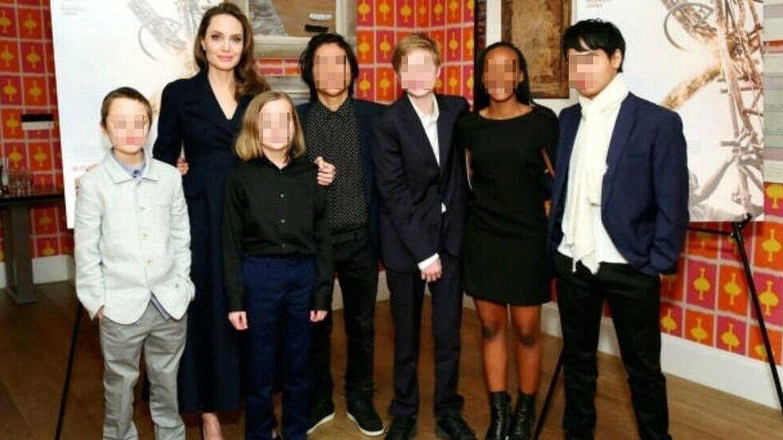 Hijos de Angelina Jolie y Brad Pitt. (Getty)