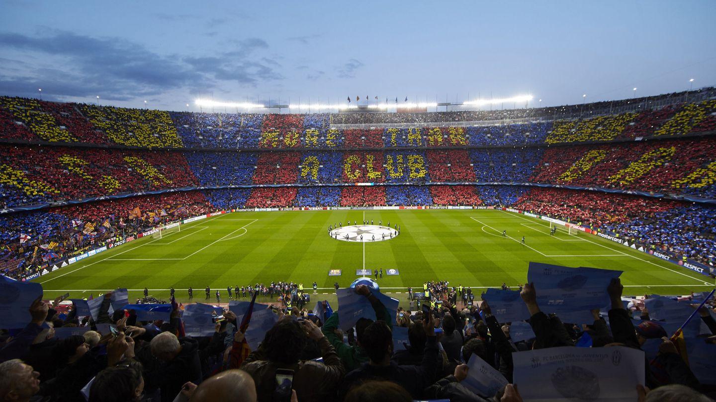 Un partido en el Camp Nou en 2017, antes del covid-19. (Reuters)