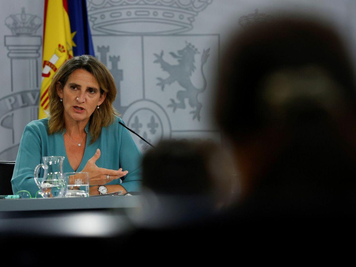 Foto: La vicepresidenta Teresa Ribera, este martes en Moncloa. (EFE)