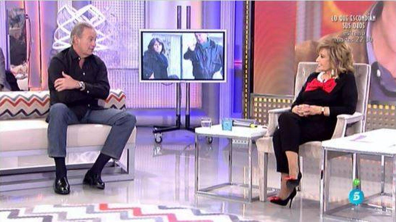 Bertín Osborne con Teresa Campos en 'QTTF'.