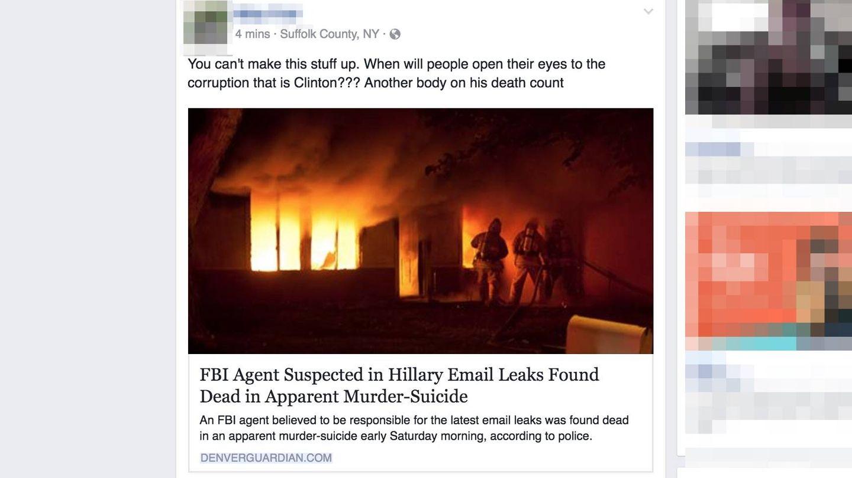 El 'Denver Guardian' lo petó por Facebook antes de las elecciones de 2016.